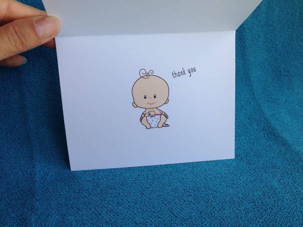 Thank You Asl Baby Shower Card Light Skin Say It In Sign