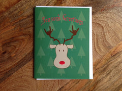 ASL ILY Reindeer Season's Greetings Cards ( 6 or 12 cards)