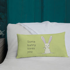 Some Bunny Loves You ASL Pillow