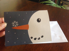 ASL ILY Snowflake and Snowman card ( 6 or 12 cards)