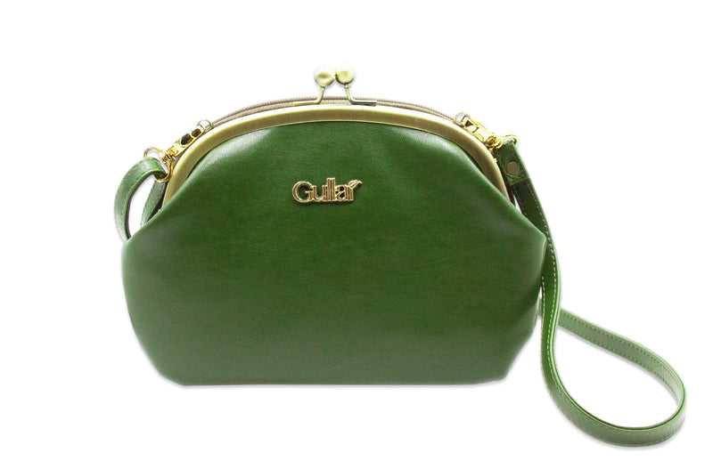 Gullar cactus mouth gold bag-pure vegetable leather bag