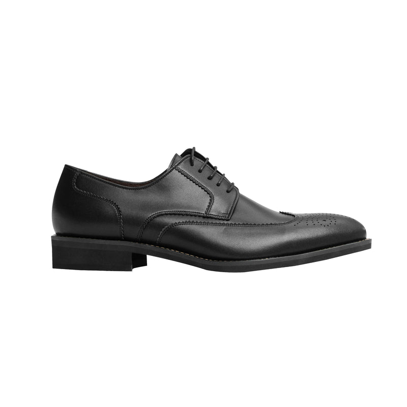 Gullar Men's Wing Pattern Carved Derby-Vegetarian Leather Shoes
