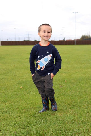 Stacey Lou's son Finley in Have It All Fashion