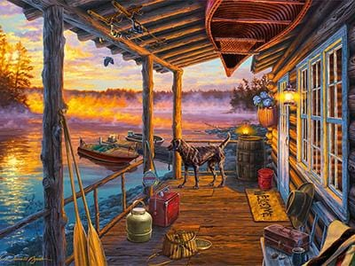 CLASSIC BOAT JIGSAW PUZZLE - OPENING DAY - By Darrell Bush - 1000 PCS