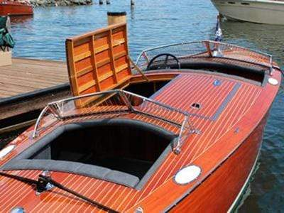 "Classic Wooden Boat for Sale -  1931 DODGE 21'6"" Split Cockpit Runabout"