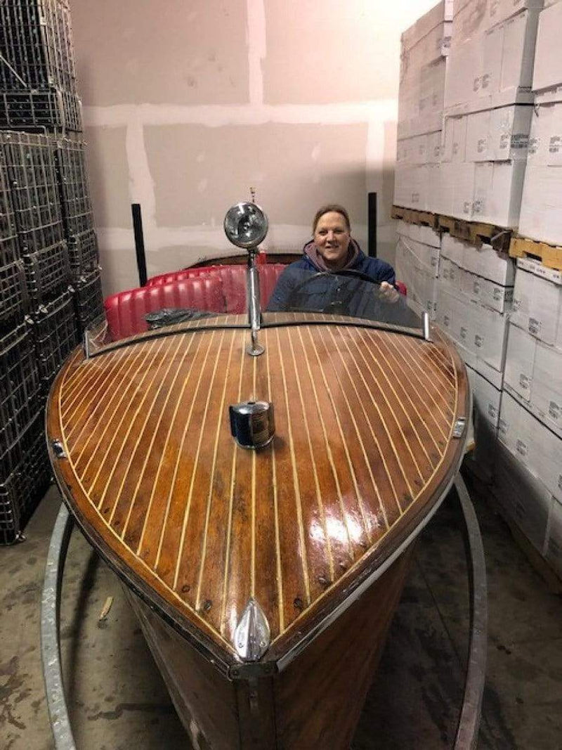 Classic Wooden Boat for Sale -  1948 DUKE 18' PLAYMATE - MOSTLY ORIGINAL BOAT
