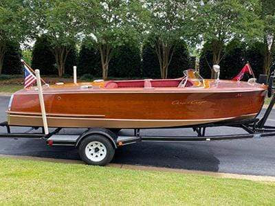 Classic Wooden Boat for Sale -  1951 CHRIS-CRAFT 18' RIVIERA