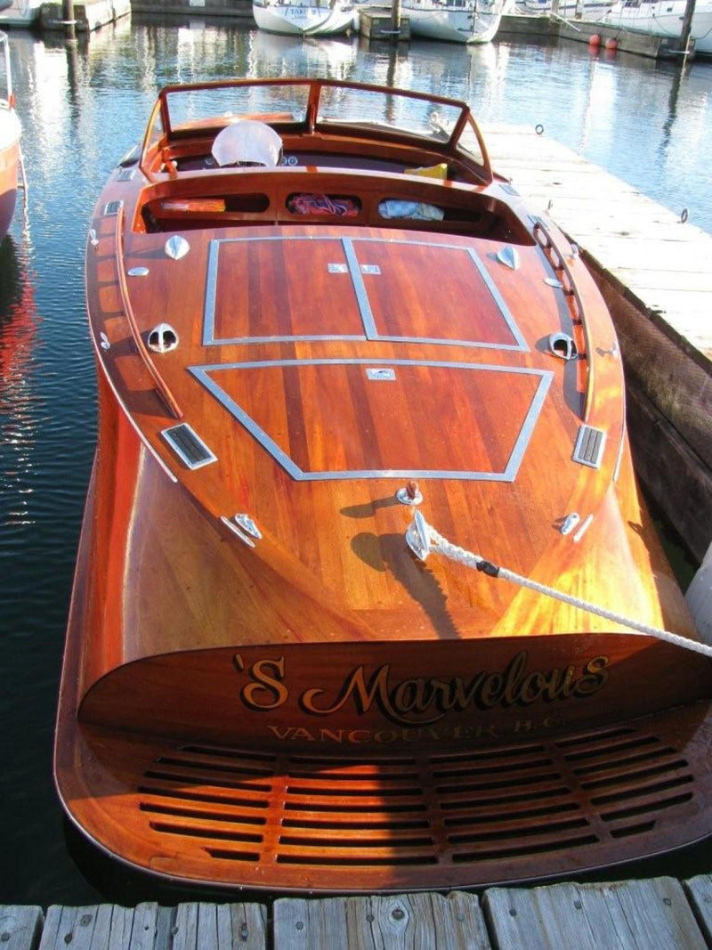 "Classic Wooden Boat for Sale -  1961 GRENFELL 21' 3"" CUSTOM BARRELBACK"