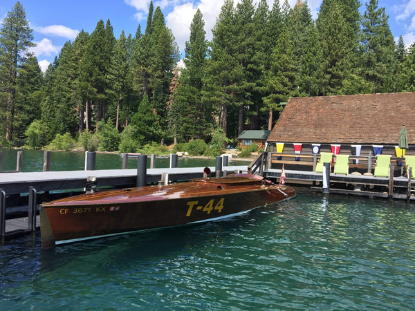 Classic Wooden Boat for Sale -  1996 Brown & Bassett 33' Gentleman's Racer - 600hp Rolls-Royce Meteor V-12