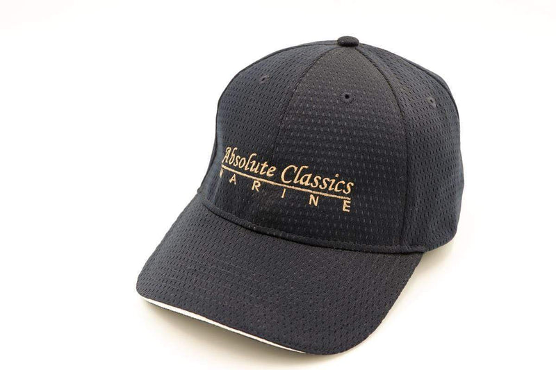 Wooden Boat Hat for Sale -  Absolute Classics Marine - 'Nylon Textured Hat' - Navy with Gold trim