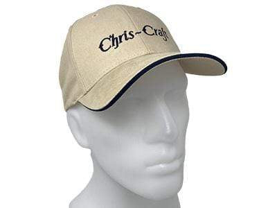 Classic Wooden Boat for Sale -  Chris-Craft Pre-War Hat - Tan with Blue Script and Blue Brim