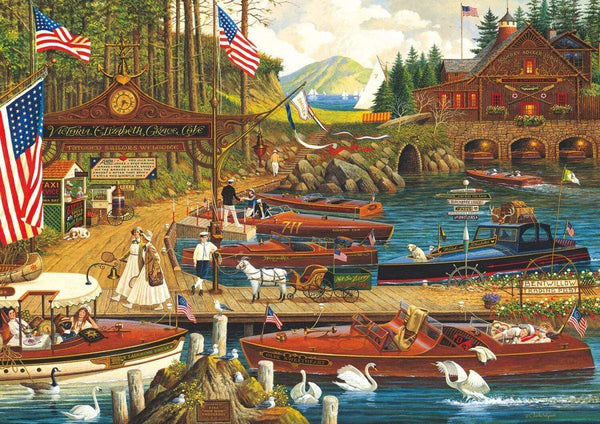 Classic Wooden Boat Accessories for Sale - CLASSIC BOAT JIGSAW PUZZLE - LOST IN THE WOODIES - By Charles Wysoki - 300 PCS