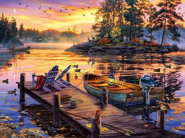 Classic Wooden Boat Accessories for Sale - CLASSIC BOAT JIGSAW PUZZLE - MORNING PARADISE - By Darrell Bush - 1000 PCS