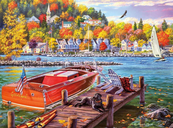Classic Wooden Boat Accessories for Sale - CLASSIC BOAT JIGSAW PUZZLE - SEASON FINALE - By Darrell Bush - 1000 PCS