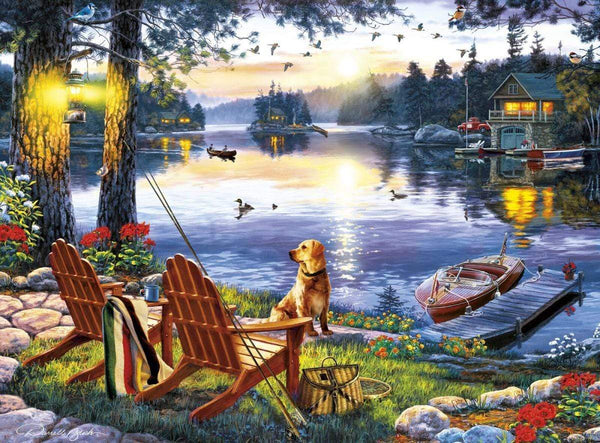 Classic Wooden Boat Accessories for Sale - CLASSIC BOAT JIGSAW PUZZLE - TWILIGHTS CALM - By Darrell Bush - 1000 PCS