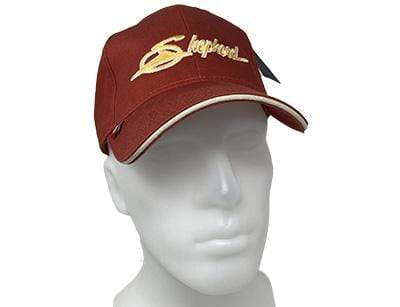 Wooden Boat Hat for Sale -  Shepherd Ball Cap - Red with Gold Logo and Brim