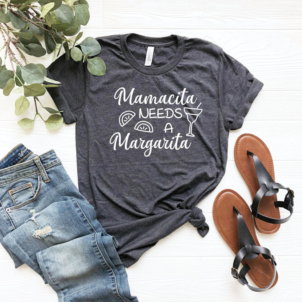 Mamacita Needs a Margarita T-Shirt - GreatwoodBoutique