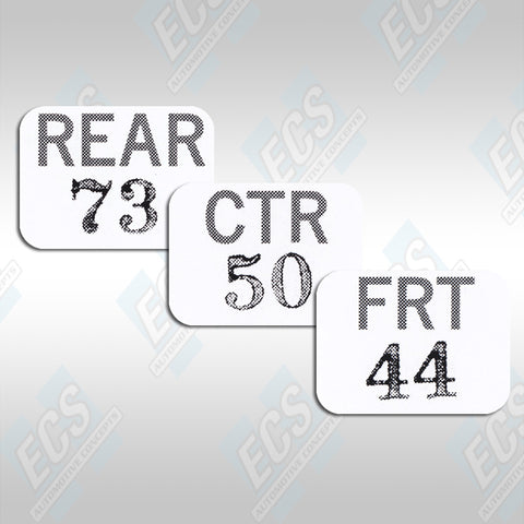 1969-71 Chrysler Six Pack Carb Decals (Multiple Options!)