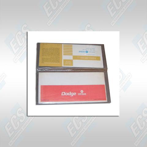 1969-71 Mopar: Vehicle Information Plastic Sleeve