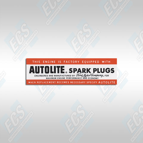1964-67 Ford: Air Cleaner / AutoLite Spark Plug Specification Decal