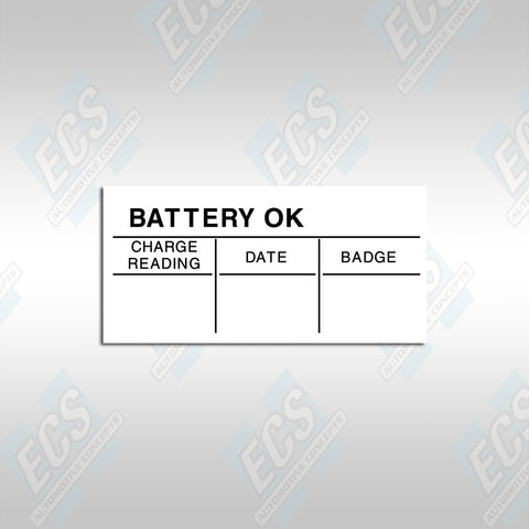 1964-68 Mustangs: Battery Inspection Decal (Multiple Options!)