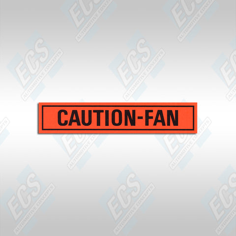 1967-73 Mustang: Caution Fan Decal