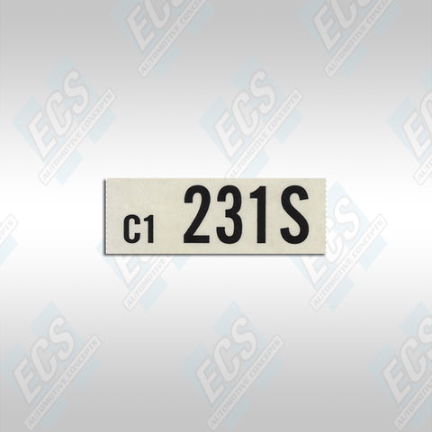 1966-67 Ford: Engine Identification Decal (Multiple Options!)