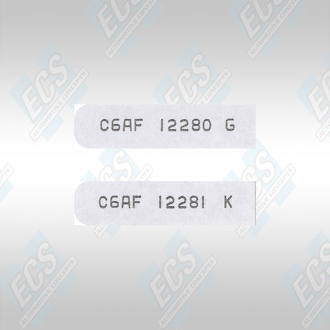 1965-70 Mustangs: Spark Plug Wire ID Tags For Left & Right Bank of Engine (Multiple Options!)