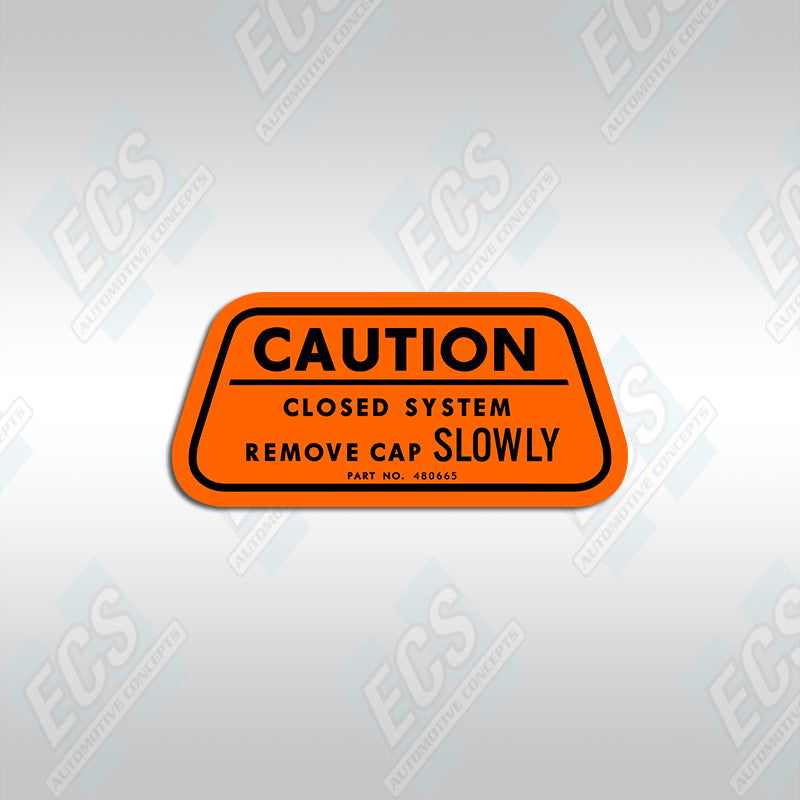 1970 GM: California Emissions Caution Decal