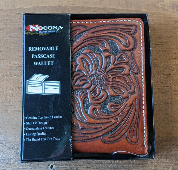 Nocona Tooled Leather Wallet-N5490608