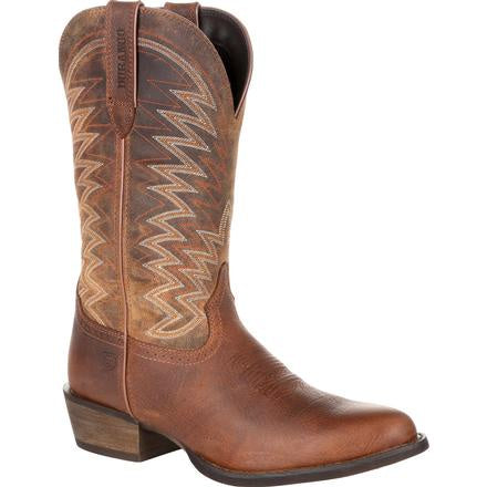 DURANGO REBEL FRONTIER DISTRESSED BROWN R-TOE WESTERN BOOT-DDB0243