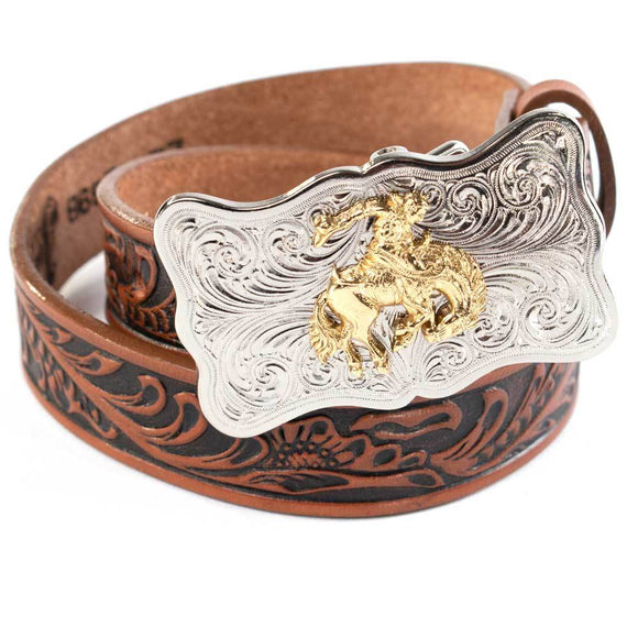 YOUTH JUSTIN TAN EMBOSSED BELT-0189B