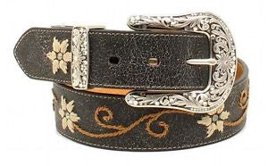 NOCONA DISTRESSED FLORAL BELT-N3447001