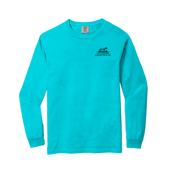 LADIES SOUTHERN HONEY LONG SLEEVE TEE/LAGOON BLUE-LS-HONY-LBL