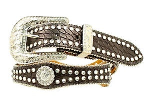 YOUTH NOCONA STUDDED BELT/BLACK-N4426001