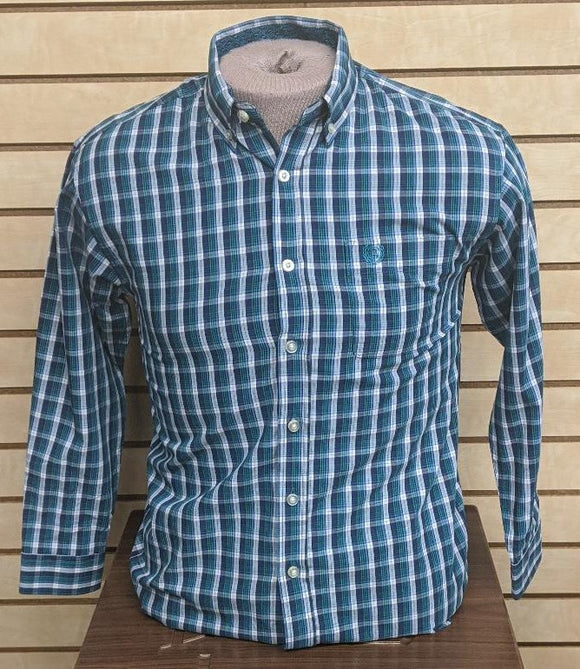 BOYS PANHANDLE SLIM LS/TEAL-C0D7711
