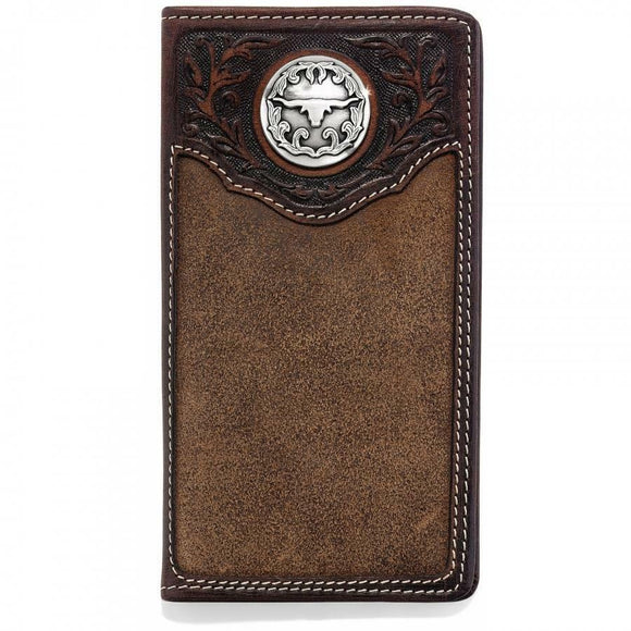 SILVER CREEK LONGHORN CITY CHECKBOOK WALLET-E80598