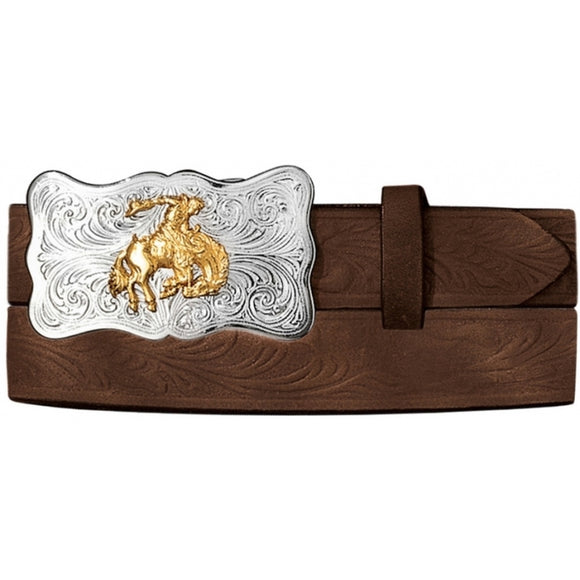 YOUTH JUSTIN EMBOSSED BELT-0189D