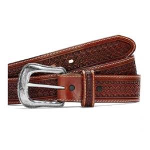 MEN'S JUSTIN 1 1/2 DIAMONDBACK BELT/BROWN-C13925
