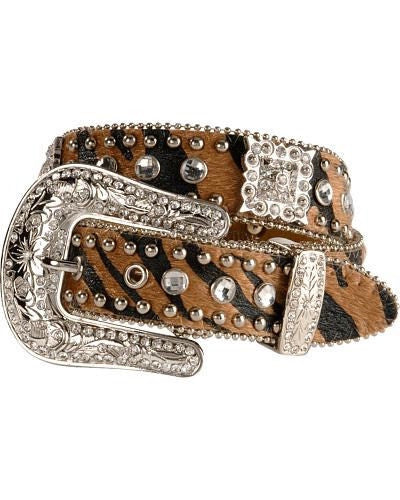 YOUTH NOCONA ANIMAL PRINT W/RHINESTONES BELT-N4425802
