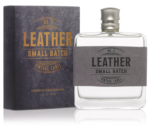 Leather No. 2 Small Batch Vintage Label 3.4 oz Cologne Spray-93270