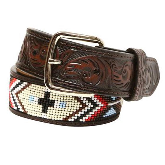 YOUTH 3D BEADED BELT/BROWN-8808