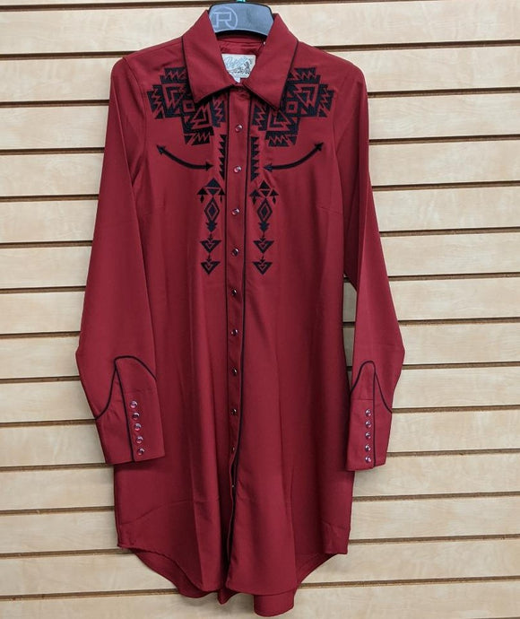 LADIES ROPER OLD WEST CLASSICS DRESS/RED-0305700400692