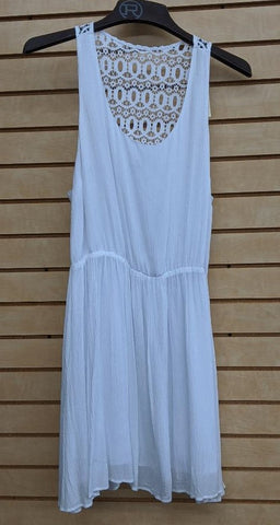 LADIES STETSON SLEEVELESS DRESS/WHITE-05705922005