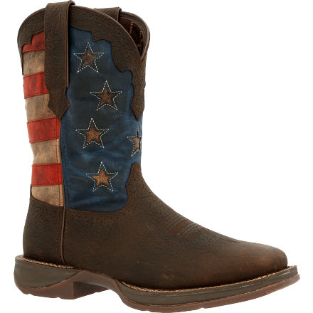 MEN'S DURANGO VINTAGE FLAG WESTERN BOOT-DDB0328