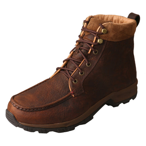 "MEN'S TWISTED X 6"" LACE UP HIKER BOOT WP/DARK BROWN-MHKW004"