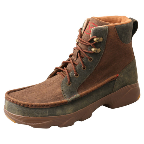 "MEN'S TWISTED X 6"" CROSSOVER/LIGHT BROWN & DARK GREEN-MIE0003"