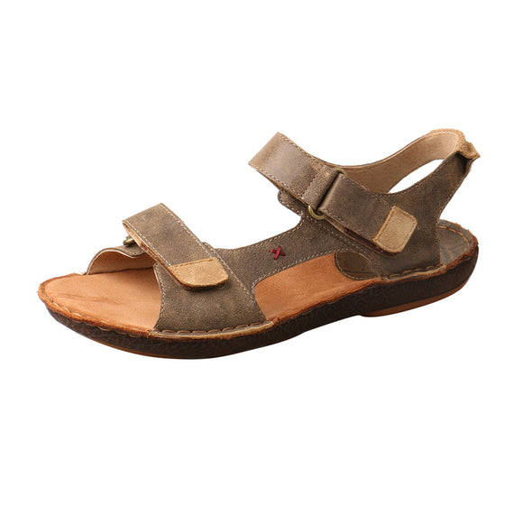 MEN'S TWISTED X LEATHER WRAP SANDAL/BOMBER-MLW0001
