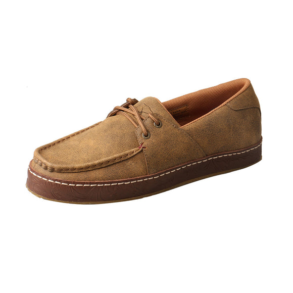 MEN'S TWISTED X BOAT SHOE WRAP SOLE/LIGHT BROWN-MWS0001
