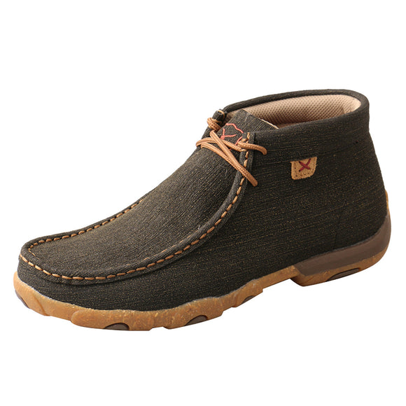 LADIES TWISTED X CHUKKA DRIVING MOC/CHARCOAL & BROWN-WDM0144